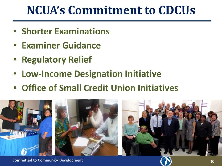 NCUA's Commitment to CDCUs