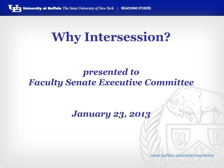 Why Intersession?