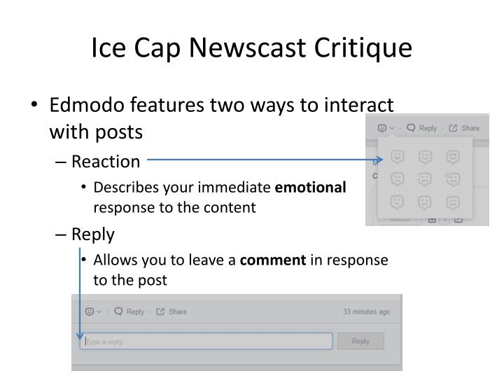 Ice cap newscast critique