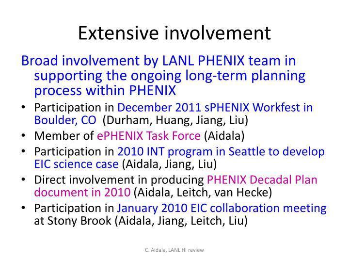 Extensive involvement