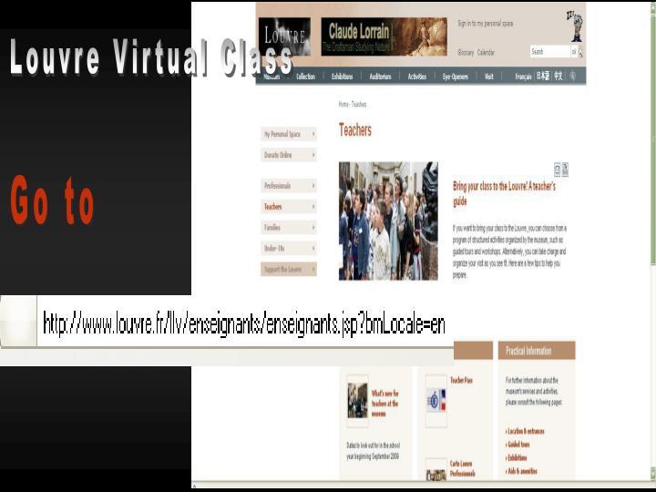 Louvre Virtual Class