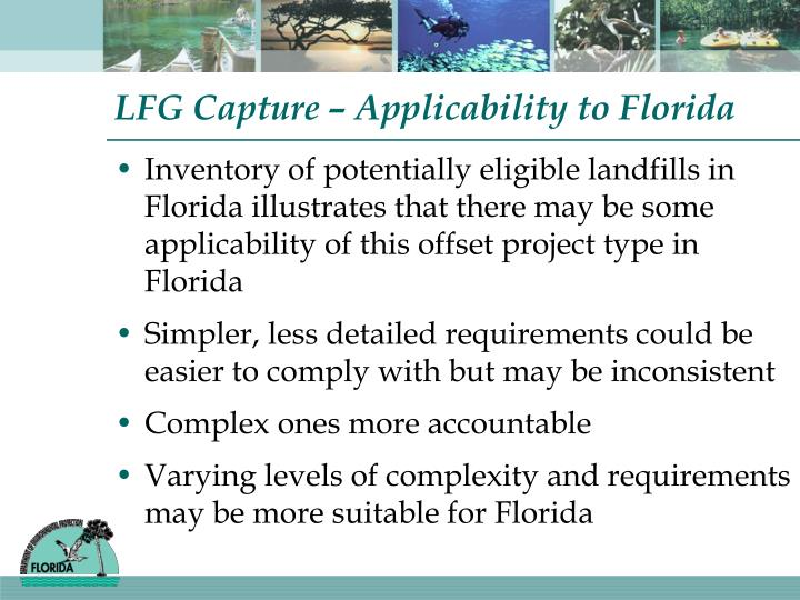 LFG Capture – Applicability to Florida