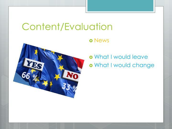 Content/Evaluation
