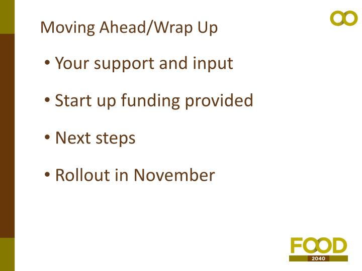 Moving Ahead/Wrap Up