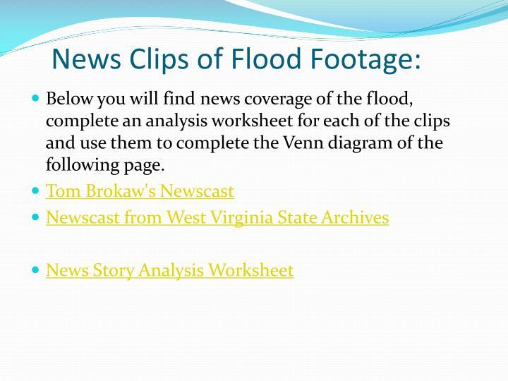 News Clips of Flood Footage: