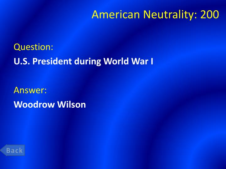 American Neutrality: 200