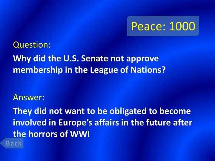 Peace: 1000