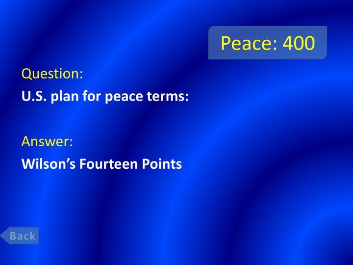 Peace: