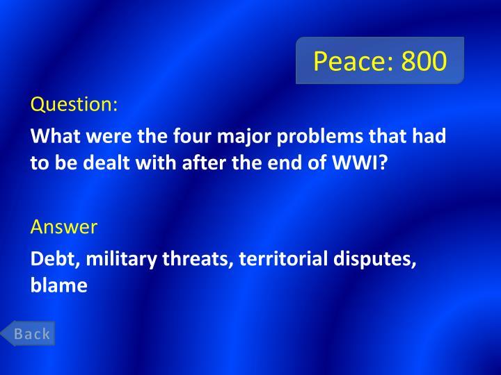 Peace: 800