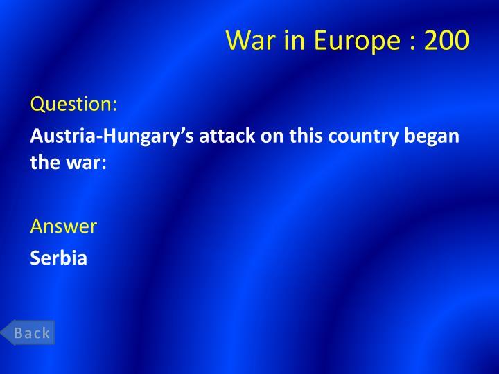 War in