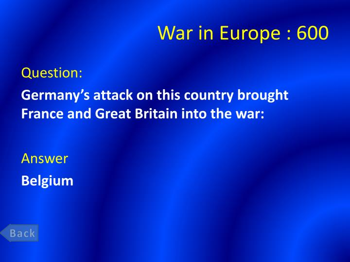War in Europe : 6