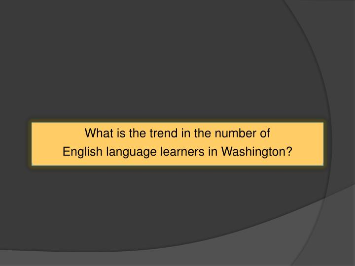 What is the trend in the number of