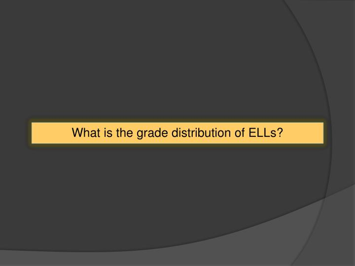What is the grade distribution of ELLs?