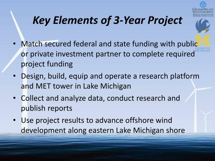 Key Elements of 3-Year Project