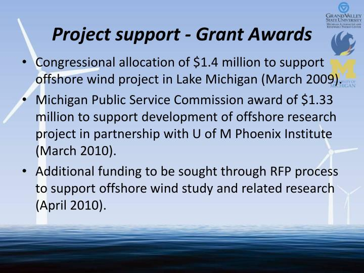 Project support - Grant Awards