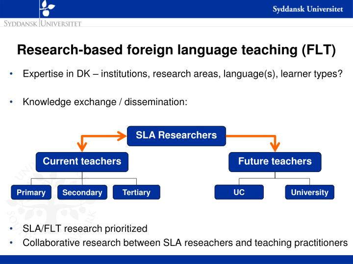 Research-based foreign language teaching (FLT)