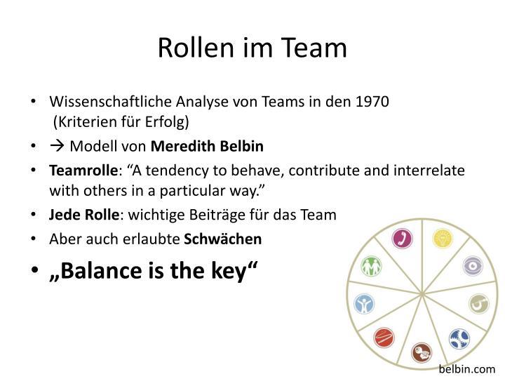 Rollen im Team