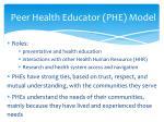 peer health educator phe model1