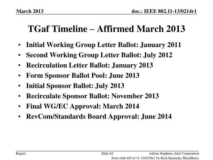 TGaf Timeline – Affirmed March 2013