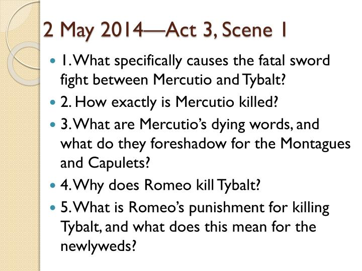 2 May 2014—Act 3, Scene 1