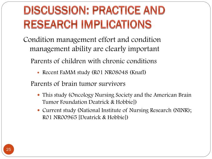 Discussion: Practice and Research Implications