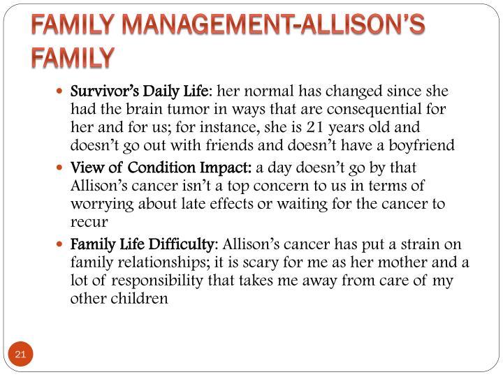 Family Management-Allison's Family