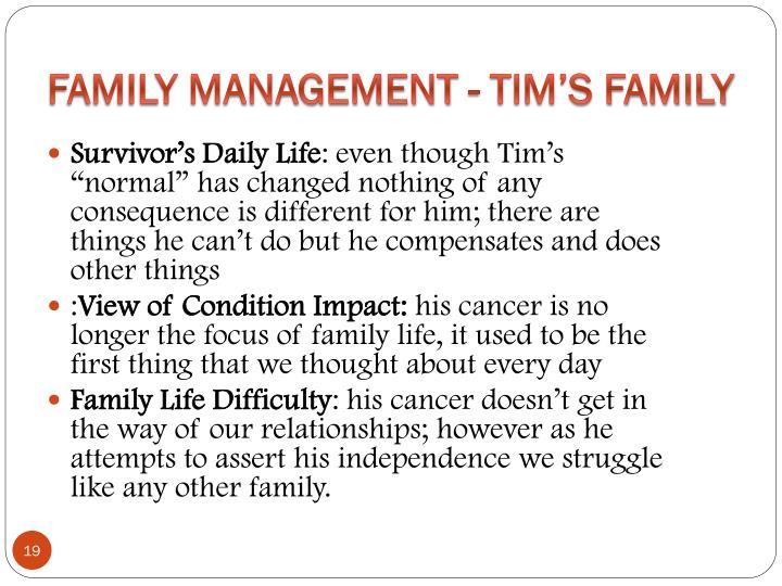 Family Management - Tim's Family