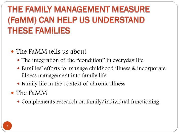 The Family Management Measure (F