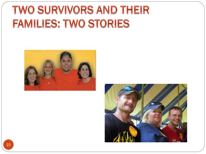 Two Survivors and Their Families: Two Stories