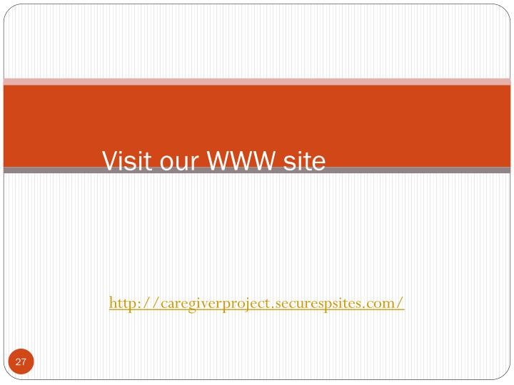 Visit our WWW site