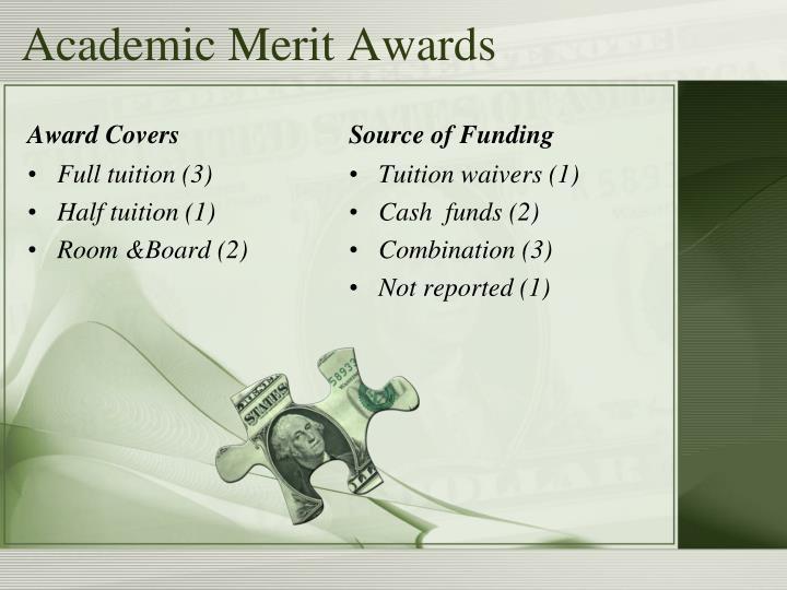 Academic Merit Awards