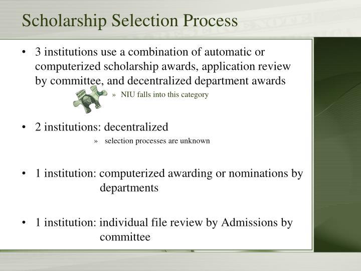 Scholarship Selection Process