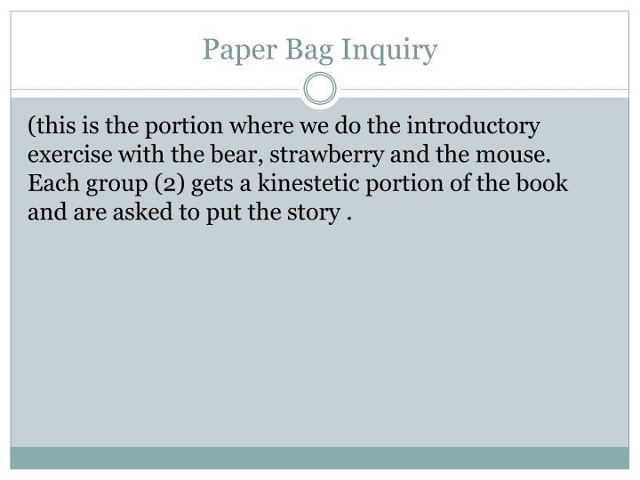 Paper Bag Inquiry