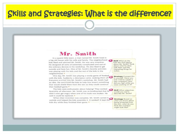 Skills and Strategies: What is the difference?