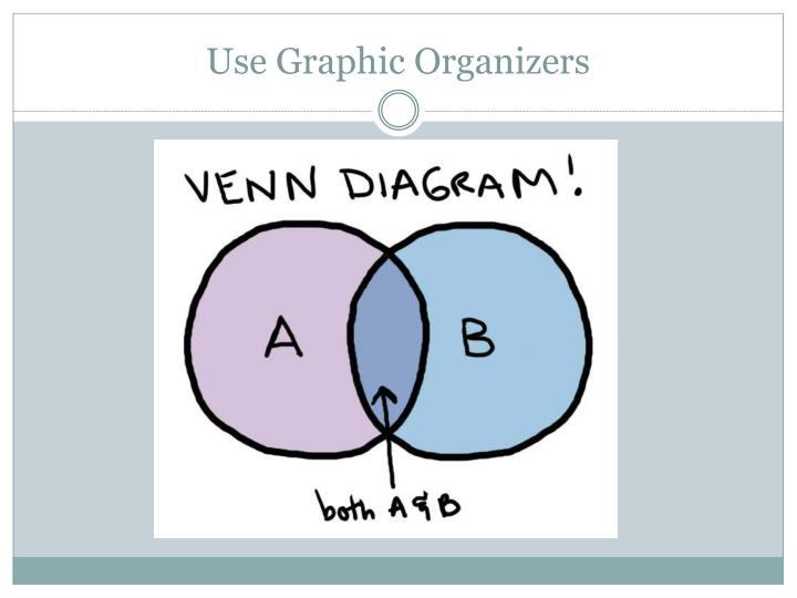 Use Graphic Organizers