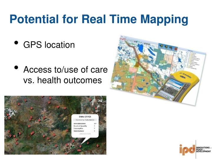 Potential for Real Time Mapping