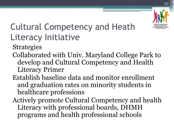 Cultural Competency and Heath Literacy Initiative