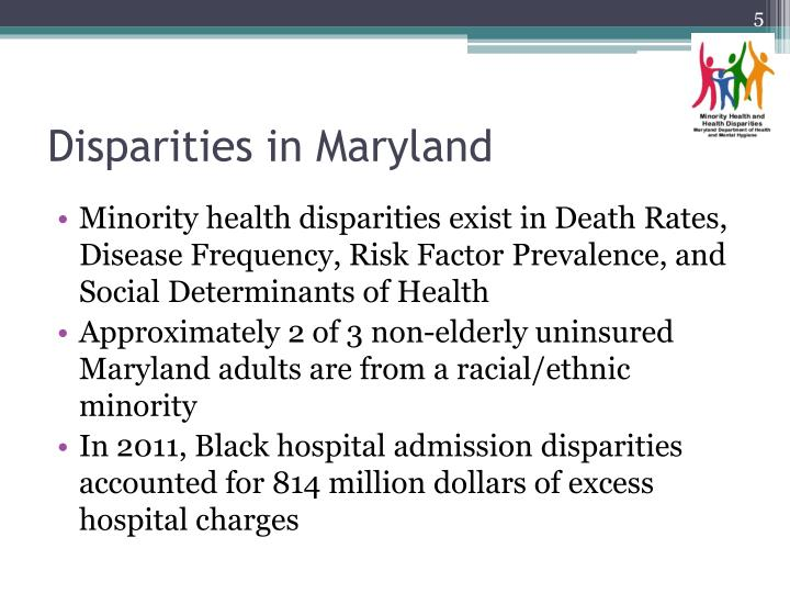 Disparities in Maryland