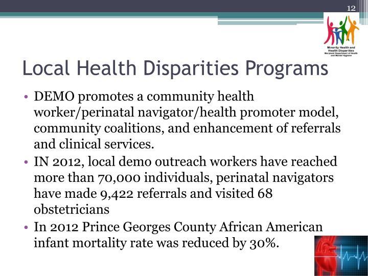 Local Health Disparities Programs