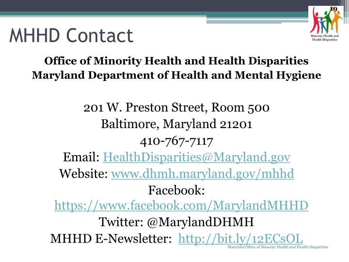 Office of Minority Health and Health Disparities