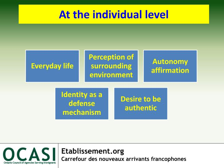 At the individual level