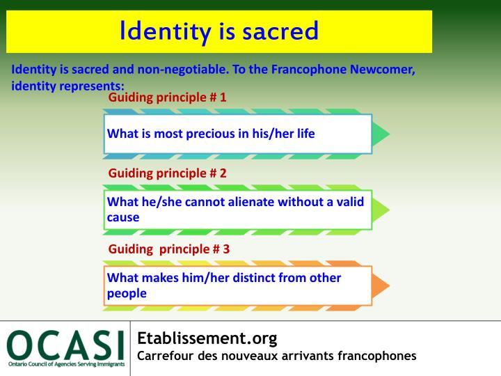 Identity is sacred