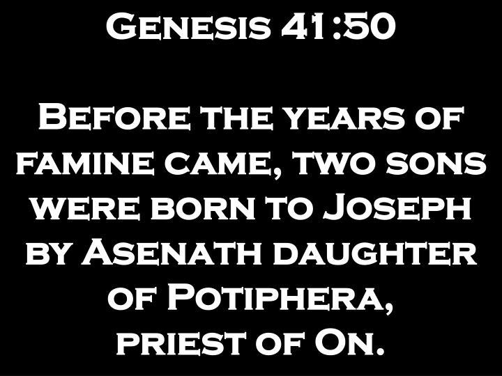 Genesis 41:50