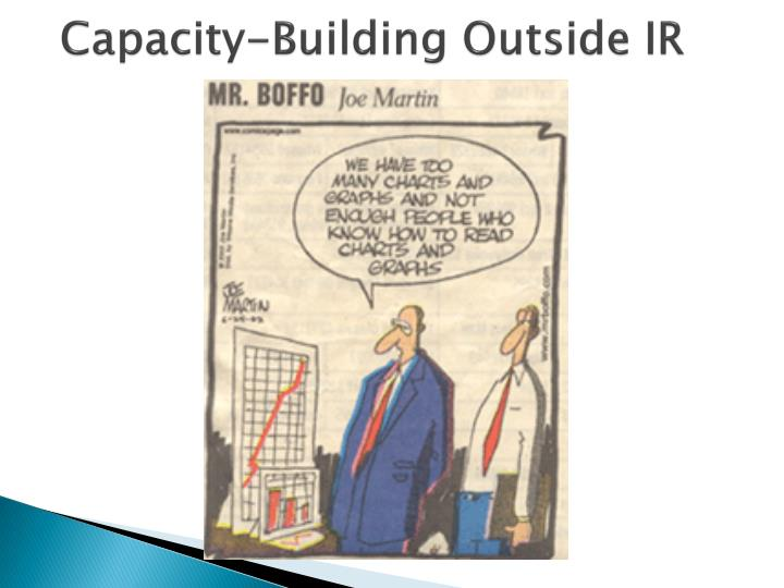 Capacity-Building Outside IR