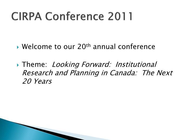 CIRPA Conference 2011