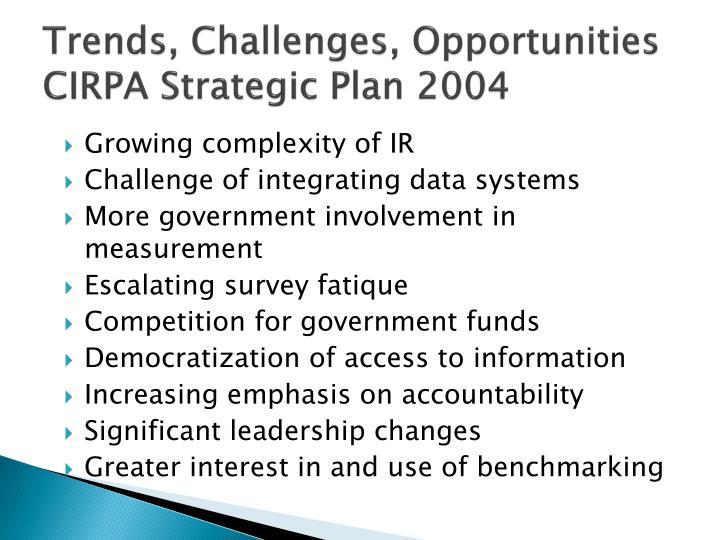 Trends, Challenges, Opportunities