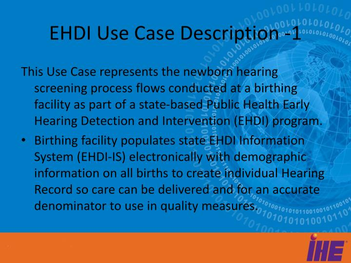 Ehdi use case description 1