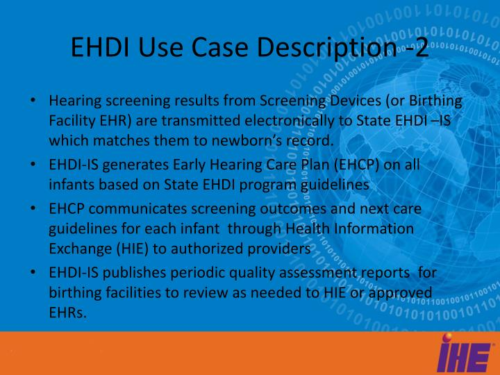 Ehdi use case description 2