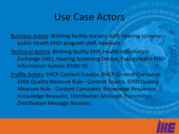Use Case Actors