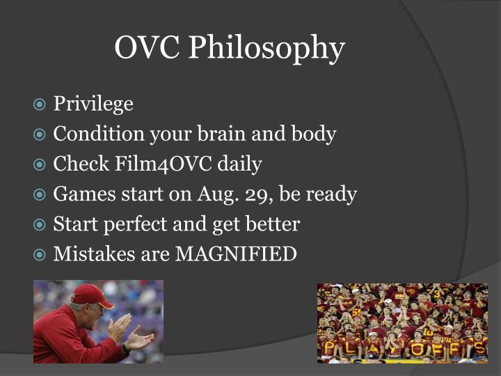 OVC Philosophy